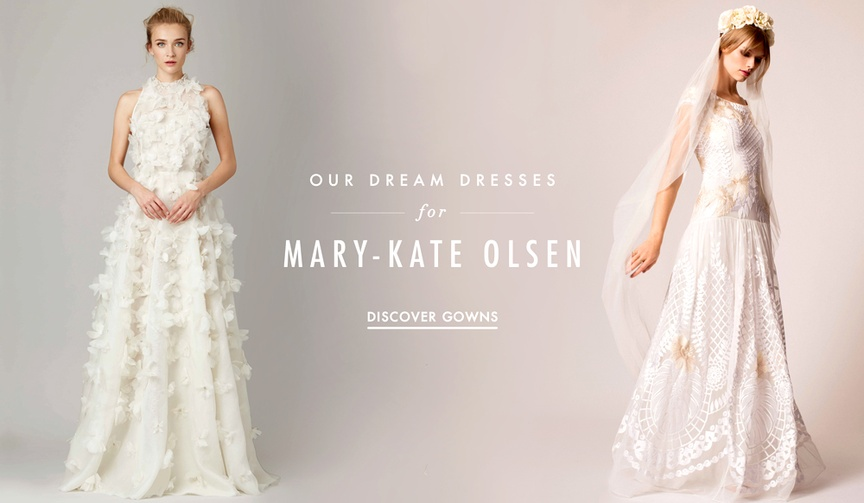 Wedding dress predictions for Mary-Kate Olsen wedding to Olivier Sarkozy