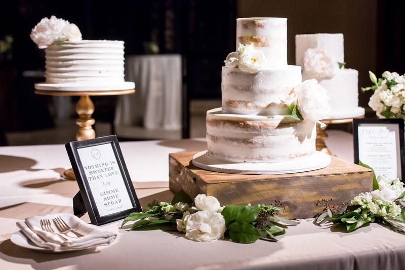 Wedding Cake Table.Cakes Desserts Photos Three Wedding Cakes On Table Inside Weddings