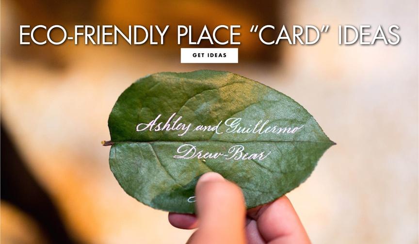 eco friendly place card ideas escort card wedding ideas