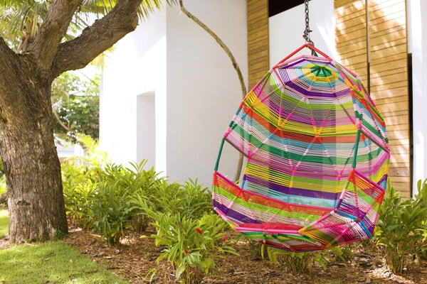 Colorful tree swing at W Retreat & Spa, Vieques Island.