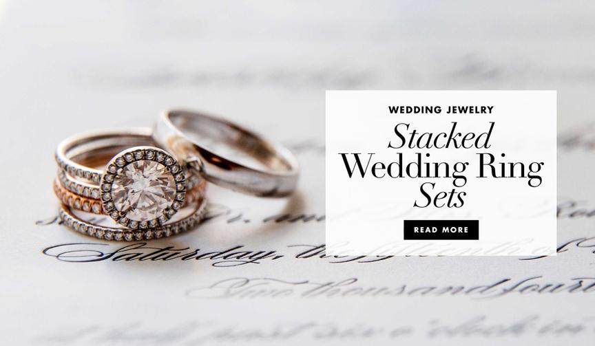 multiple wedding rings, stacked wedding bands