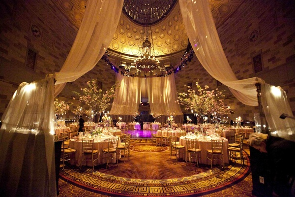 Wedding reception at the Grand Ballroom of Gotham Hall