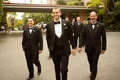 Beverly Hills Hotel groomsmen with bow ties