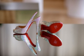 Silver beaded Christian Louboutin shoes