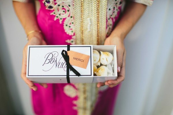 thank-you box with cookies for guests merengue treats