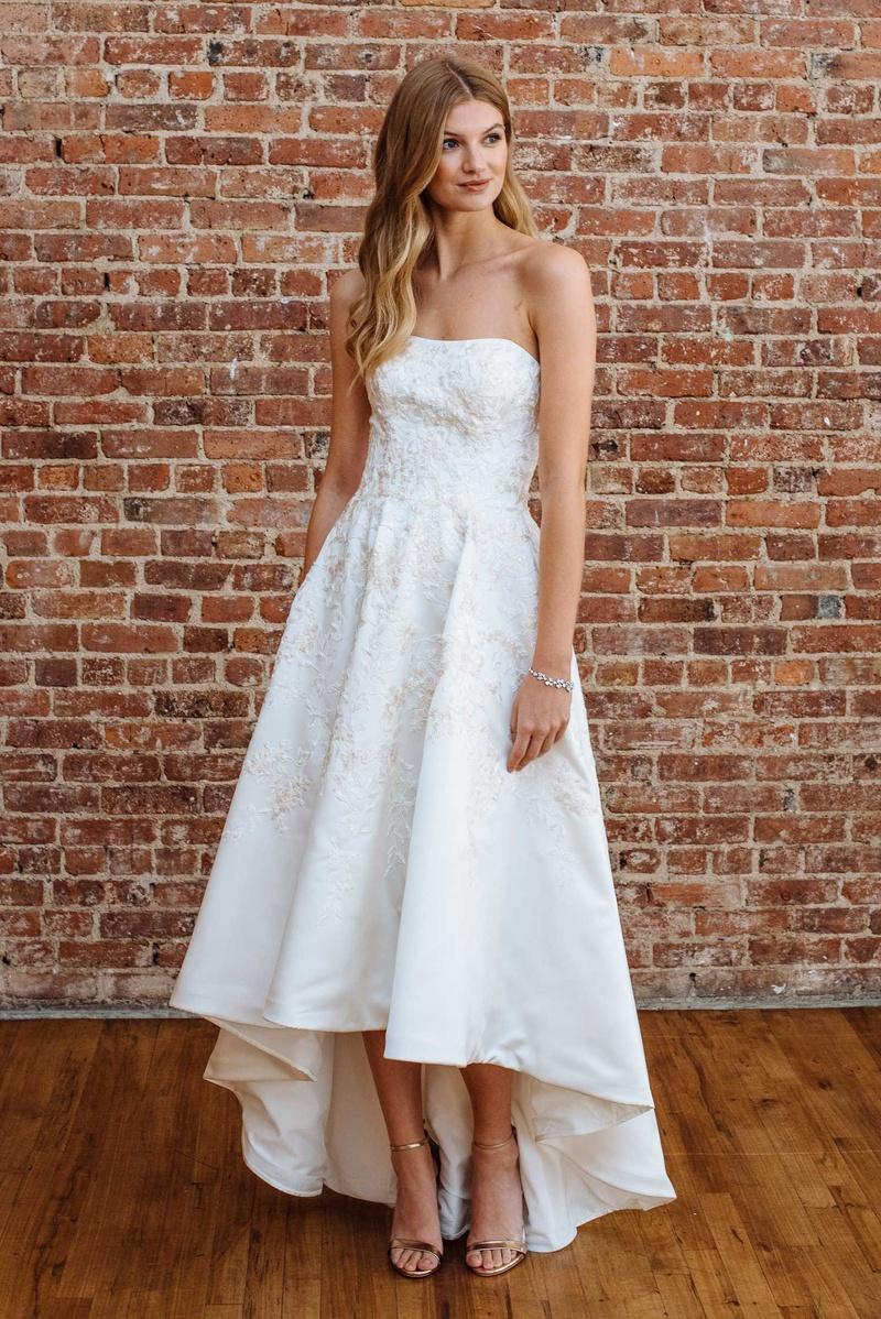 Wedding dresses photos cwg794 by oleg cassini inside for High low wedding dress davids bridal