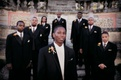 Caribbean groom with groomsmen at Vizcaya Museum