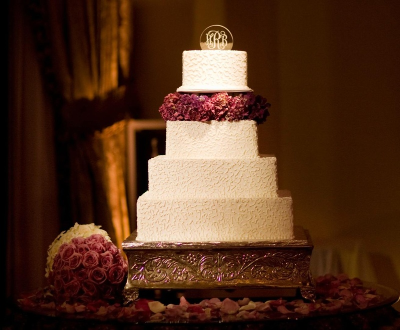 Cakes & Desserts Photos - White and Purple Wedding Cake - Inside ...