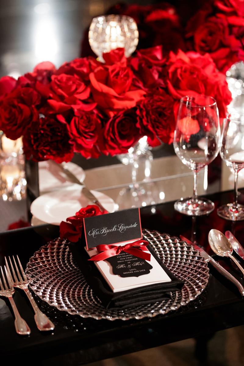Reception Decor Photos Elegant Black Red White