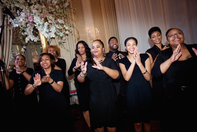 Gospel Choir Sings Recessional Song At A Jewish Wedding The Standard Club Chicago