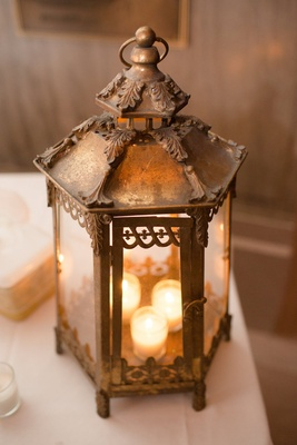 Wedding decoration brass lantern with tea lights