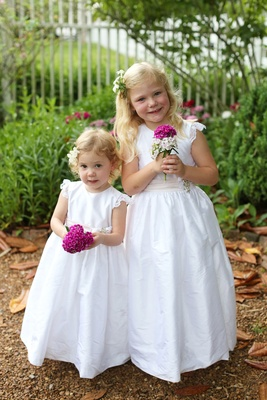 flower girls with white dresses, floral