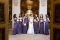Bride with bridesmaids at The Plaza hotel in NYC