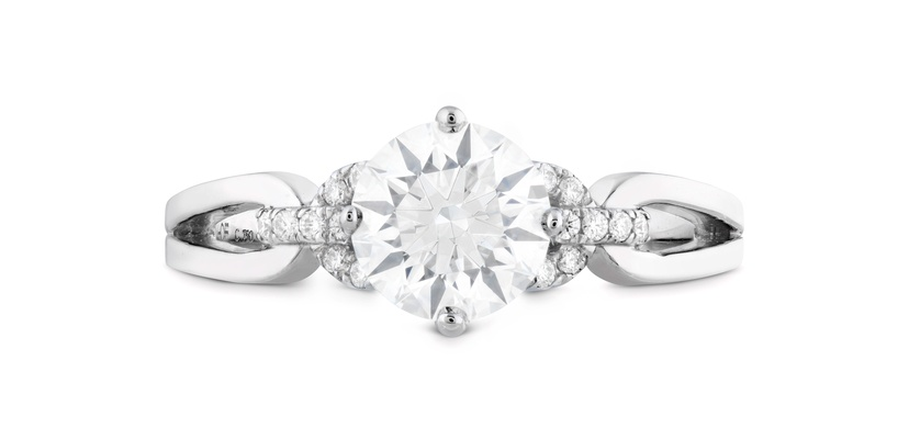 Hearts On Fire Brielle Diamond Engagement Ring with platinum setting