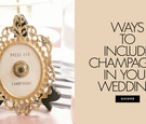 There are more ways to incorporate champagne into your wedding besides the toast! Find out here.