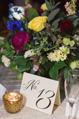 carstock table number colorful arrangement dayton ohio wedding reception décor artful creative