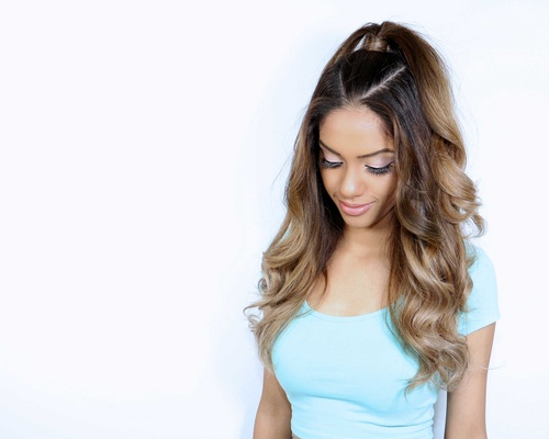 Wedding Hair Ariana Grande Inspired Half Up Ponytail