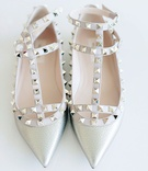 Valentino stud wedding bridal flats shoes stud pointed toe pumps