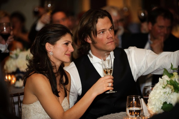 Jared Padalecki and Genevieve Cortese at reception