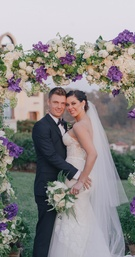 Backstreet Boys singer with wife on wedding day
