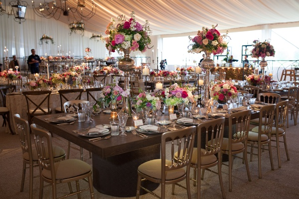 rustic elegant garden reception decoration tented tablescape
