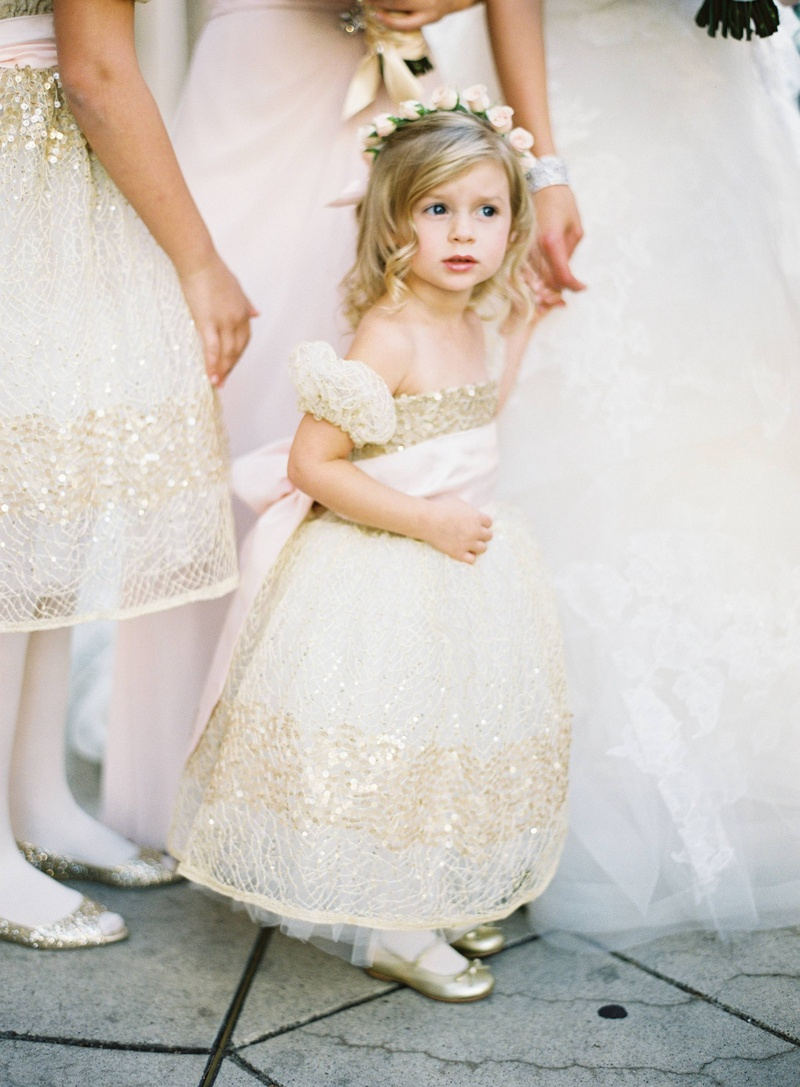 9c052e2c0803 Flower Girls & Ring Bearers Photos - Gold Flower Girl Dress - Inside ...