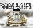emerald-cut diamond engagemend ring with tapered baguette side stones, engagement ring settings