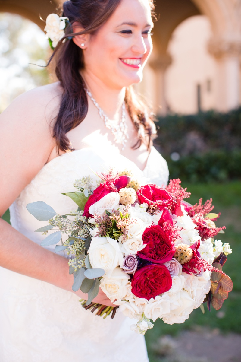 Bouquets photos bouquet with wine colored flowers inside weddings bridal bouquet with white and lavender roses red garden roses eucalyptus mightylinksfo