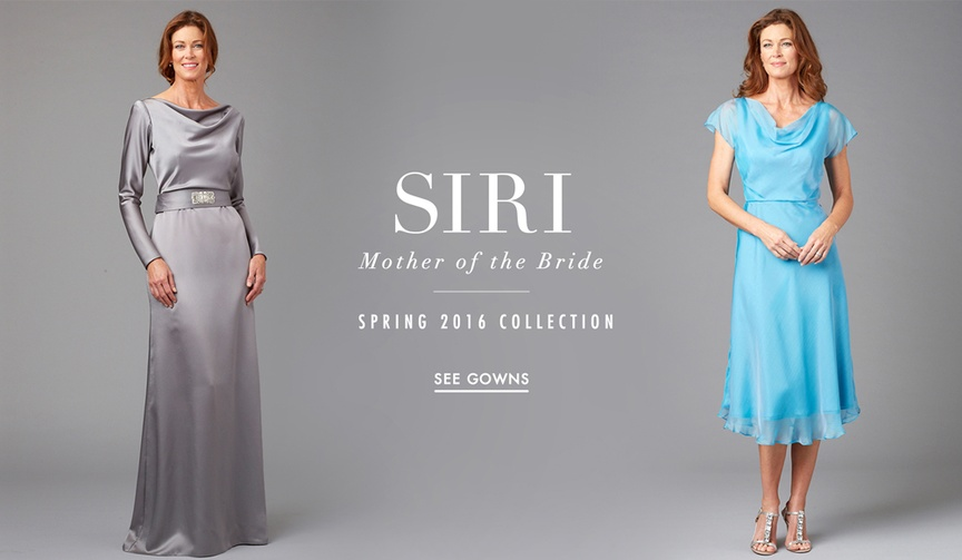 Mother of the bride dresses from Siri Spring 2016
