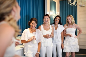 Guests dressed in white