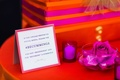 Indian wedding hashtag social media sign on guest book table