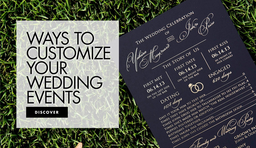 ways to customize your wedding events how to add a personal touch to your ceremony and reception