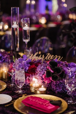 Fall Themed Wedding With Eggplant Amp Fuchsia D 233 Cor In Deer
