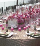 Head table reception decor and place settings