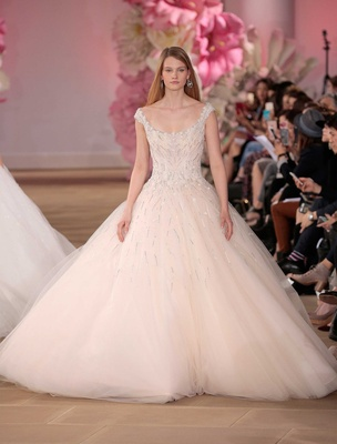 Ines Di Santo Couture Bridal Collection Spring Summer 2017 ball gown off shoulder straps scoop neck