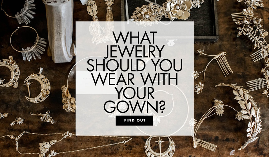 assortment of earrings, headpieces, necklaces, and other wedding-day jewelry, pick wedding jewelry