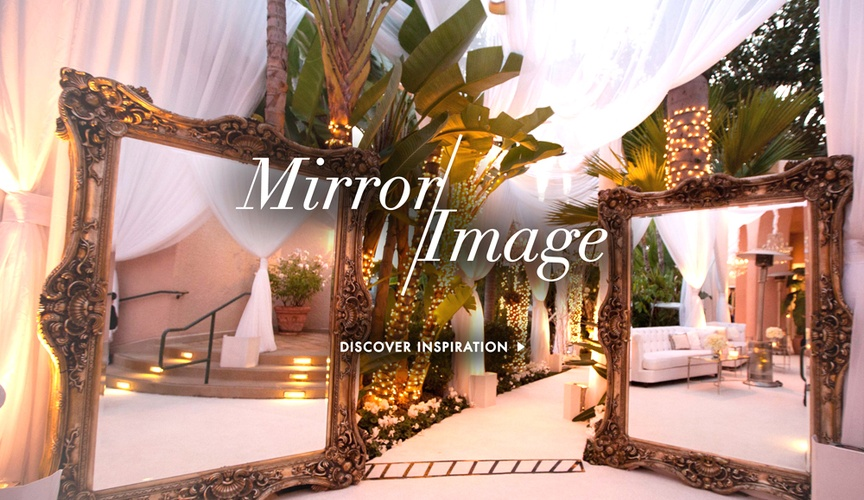 Mirror wedding decoration ideas for ceremony and reception
