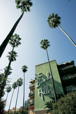 The exterior of The Beverly Hills Hotel