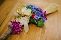 African wedding tradition broom with flowers and ribbons