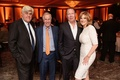Jay Leno, Henry Winkler, and the late Garry Shandling with Carol Leifer at wedding reception