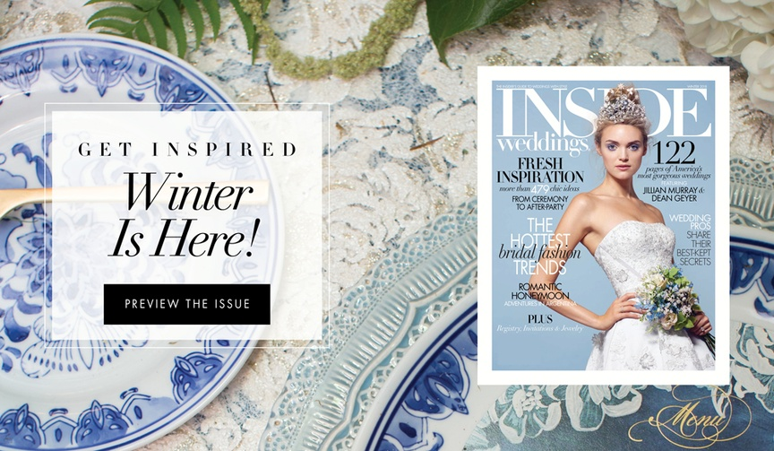 Wedding inspiration from the winter 2018 issue of Inside Weddings Magazine