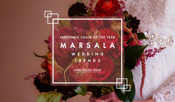 Marsala wedding trends Pantone Color of the Year