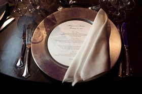 Morgan Pressel wedding reception place setting