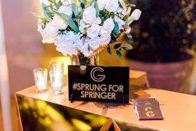 Wedding reception george springer iii houston astros mlb baseball player hashtag sprung for springer