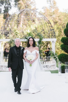Cheryl Burke walking down aisle with stepdad for outdoor wedding to matthew lawrence grand del mar