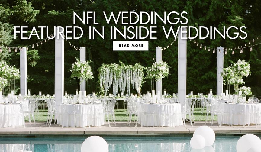 nfl weddings featured in inside weddings magazine and on insideweddings.com