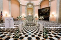 black and white tile floor, wedding in ohio statehouse, rotunda ceremony