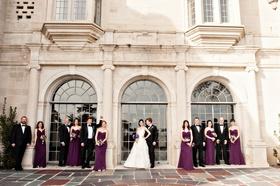 bridal party at greystone mansion