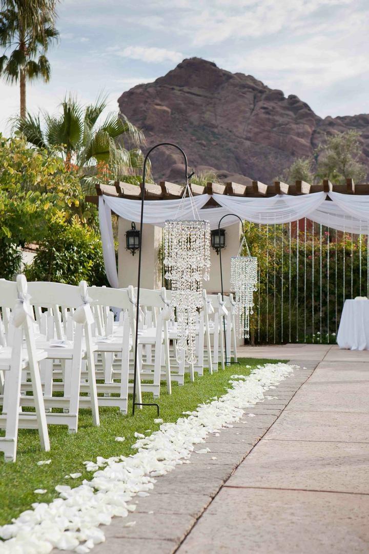 Arizona desert mountains as ceremony backdrop