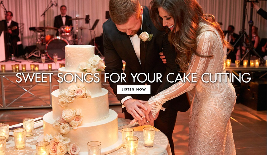 Sweet songs to play during the cake cutting at your wedding reception